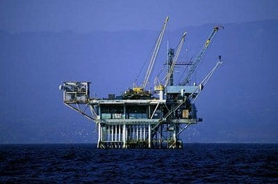 Oil Rig off Santa Barbara