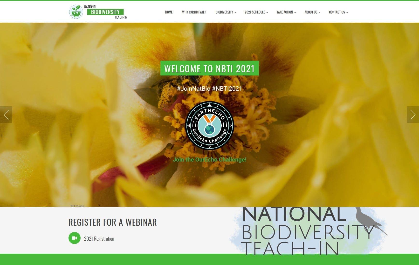 National Biodiversity Teach In