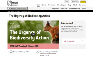 The Urgency of Biodiversity Action Natural History Museum